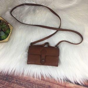 BANANA REPUBLIC Small Tan Leather Crossbody Purse